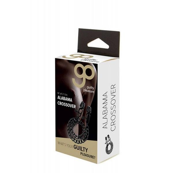 Štipaljke za bradavice, metalne, podesive, povezane lančićem - Guilty Pleasure