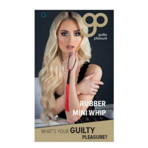 Bič od gume s resicama - Guilty Pleasure Rubber Mini Whip