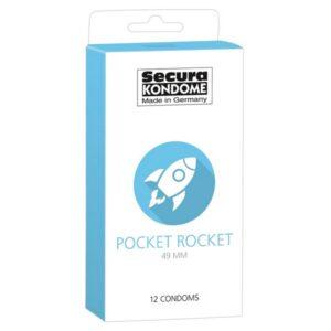 Kondomi 12 komada, dužina 16,5cm, promjer 4,9cm - Secura Pocket Rocket