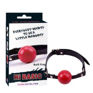 Ball gag od ABS materijala s podesivim remenima od umjetne kože - Hi Basic
