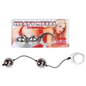 Kuglice vaginalne/analne, metalne, promjer 3cm - Heavy Metal