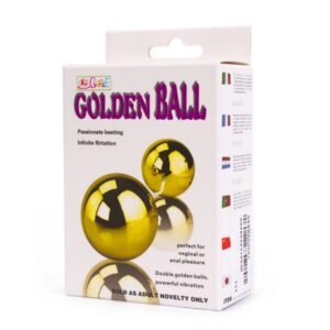 Kuglice vaginalne, plastične, s vibratorom - Golden Balls