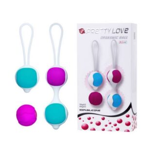 Kuglice vaginalne, silikonske + 1 zamjenska - Pretty Love Orgasmic Balls