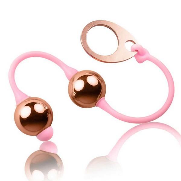 Kuglice vaginalne, metalne, dužina 27cm - Golden Balls