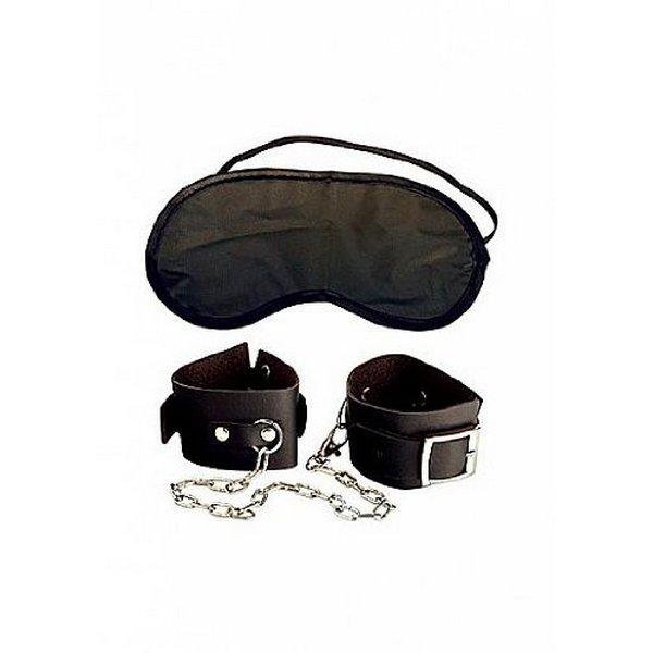 Lisice kožne, za ruke i noge + maska za oči - Beginner's Cuffs