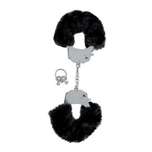 Lisice metalne presvučene krznom, s ključićima - Fetish Fantasy