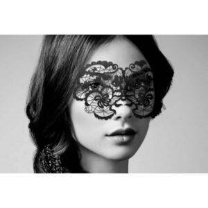 Maska za oči, crna, čipkasta - Anna