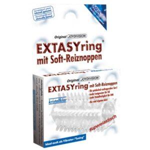 Navlaka za penis s resicama za dodatnu stimulaciju + lubrikant - Extasy ring