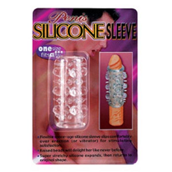 Navlaka za penis s ispupčenjima, rastezljiva - Silicone Sleeve