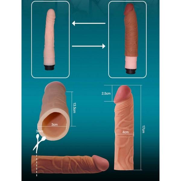 Navlaka za penis od TPE materijala, dužina 17cm - Pleasure X-Tender