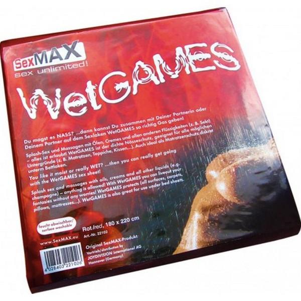 PVC plahta, crvena, 180x220cm - Wet Games