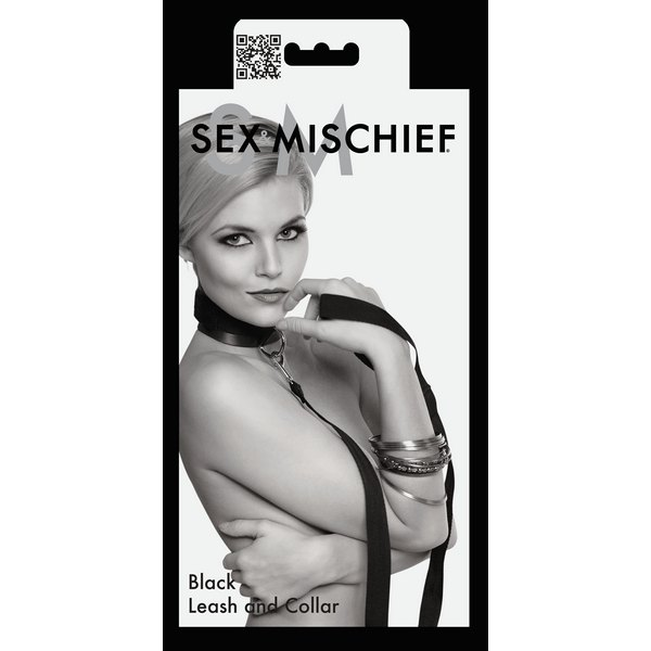 Okovratnik s povocem, s metalnom kopčom - Sex Mischief