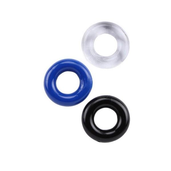 Set od 3 prstena od TPR materijala, iste veličine - Donut Rings