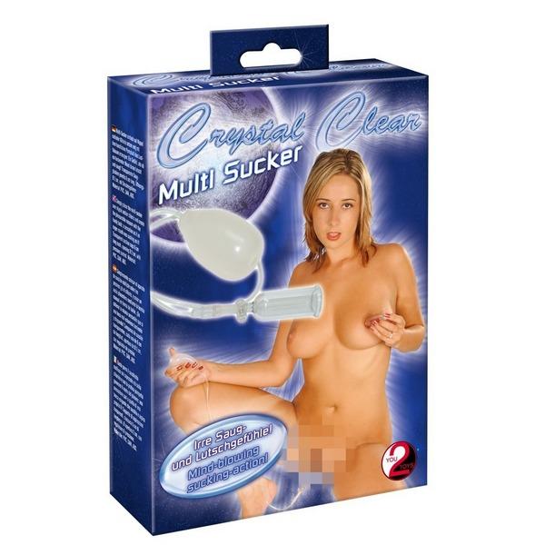 Pumpa za bradavice i klitoris, od PVC materijala - Crystal Clear