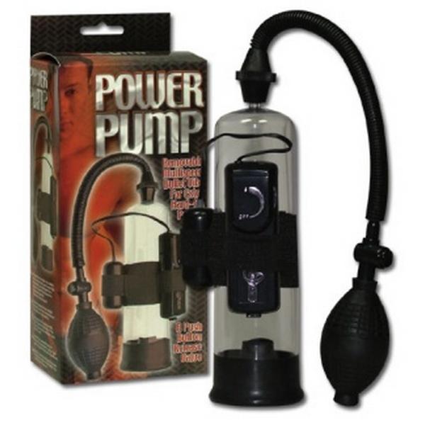 Pumpa za penis, s vibrirajućim jajetom koji se može izvaditi - Power Pump