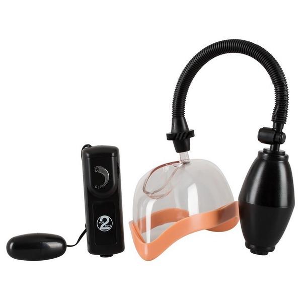 Pumpa za vaginu s vibratorom + baterije - Vagina Vibrating Sucker