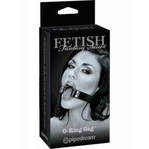 Remen za glavu s prstenom za usta, podesiv, od vinila - O-Ring Gag