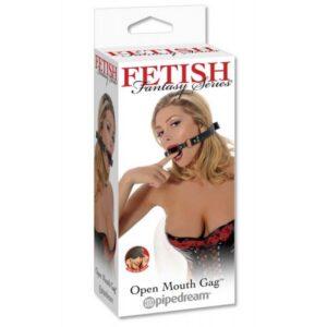 Remen za glavu s prstenom za usta + gratis maska za oči - Open Mouth Gag
