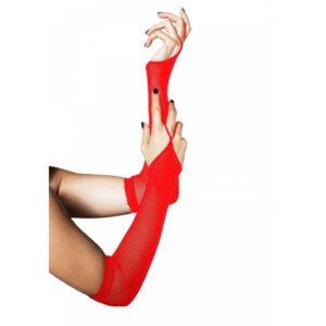 Rukavice mrežaste, crvene, bez prstiju