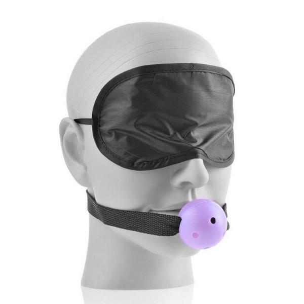 BDSM set od peruške, biča, ball gag, maske, kockica - Bedroom Lovers kit