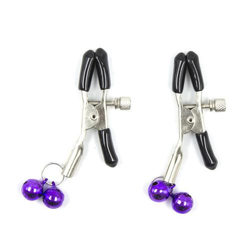 Set za bondage od 8 komada - Purple & Black Fur Lined Bondage Kit