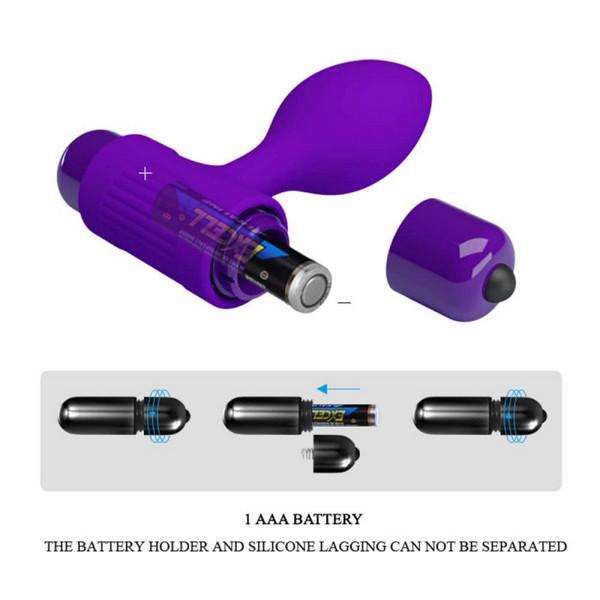 Silikonski vibrirajući analni stimulator - Pretty Love Vibra Butt Plug