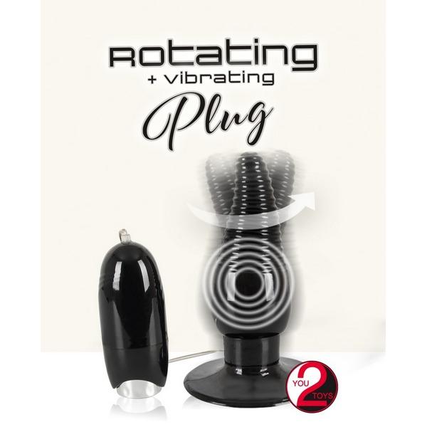 Analni stimulator, vibrirajući, 13 x 2,7-4cm - Rotating & Vibrating Plug