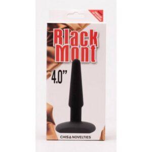Silikonski analni stimulator, dužina 10,4cm, promjer 2,9cm - Black Mont