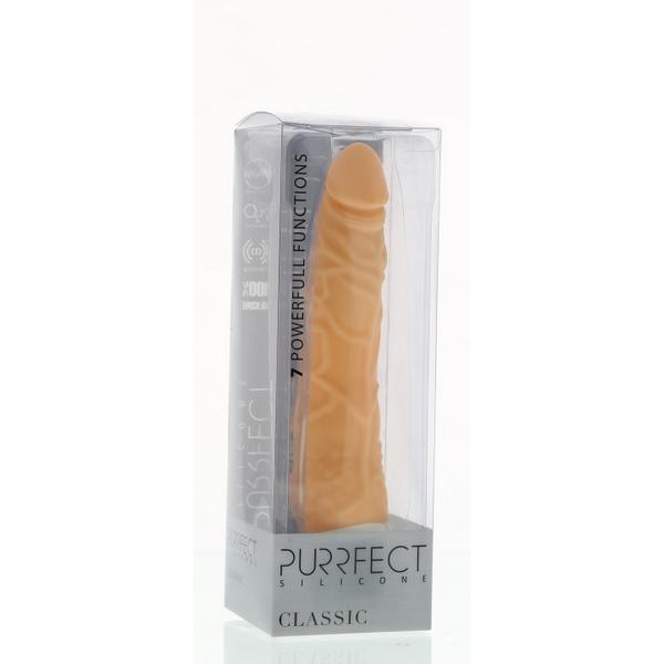 Vibrator od silikona s izraženim žilama, 20 x 3-4cm - Purrfect silicone