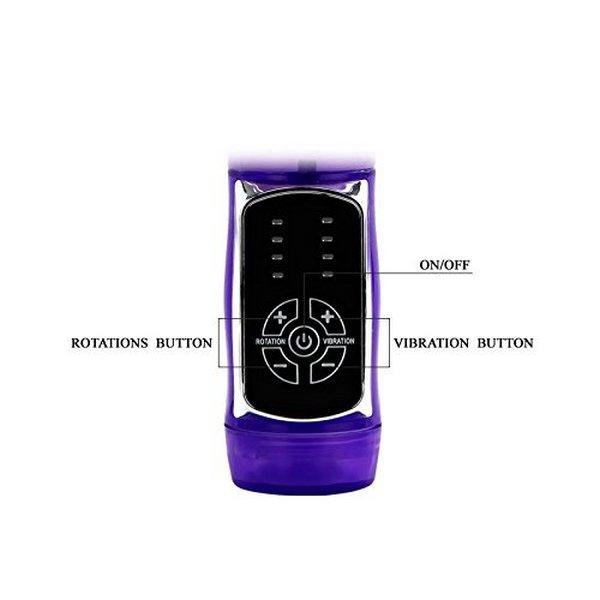 Vibrator sa stimulatorom klitorisa, 24x3,5cm, rotirajući - Butterfly Prince