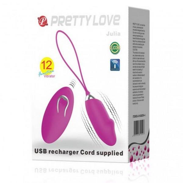 Vibrator jaje silikonski, 7,5x3,3cm, USB punjenje - Pretty Love Julia