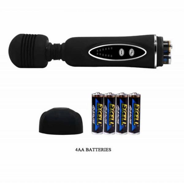 Vibrator masažer s 3 kapice, 20,5x4,2cm - Pretty Love Magical Massager