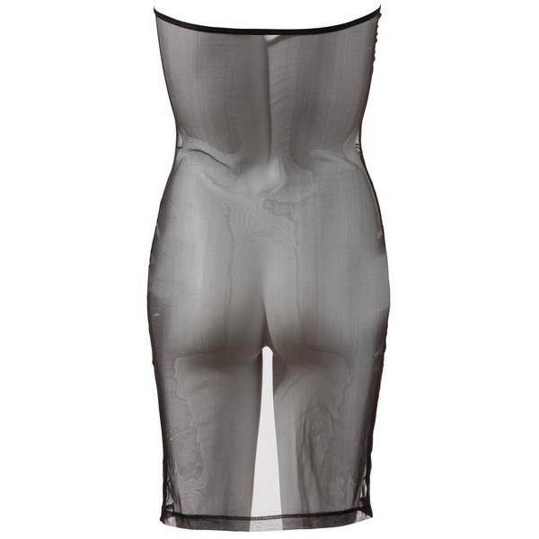 Haljina ženska, crna, bez naramenica, s prednjim prorezom, vel. S