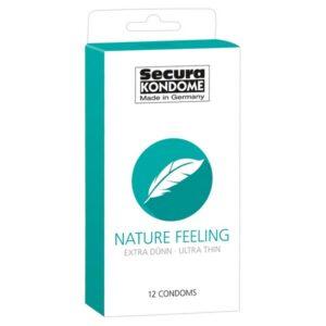 Kondomi 12 komada, extra tanki, dužina 18cm - Secura Nature Feeling