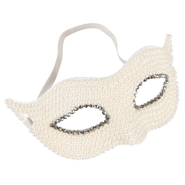 Maska za oči ukrašena perlama - Cottelli Collection