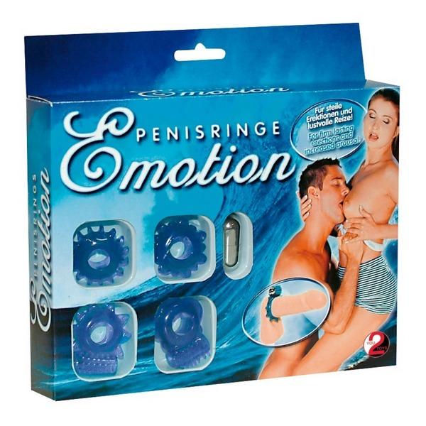Set prstena za penis, s vibro metkom i daljinskim upravljačem - Emotions