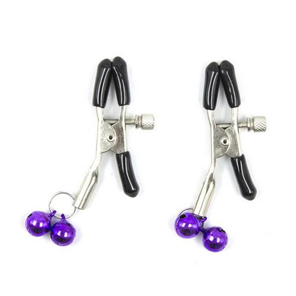 BDSM set - lisice, uže, ball gag, maska za oči, bič, štipaljke - Purple & Black