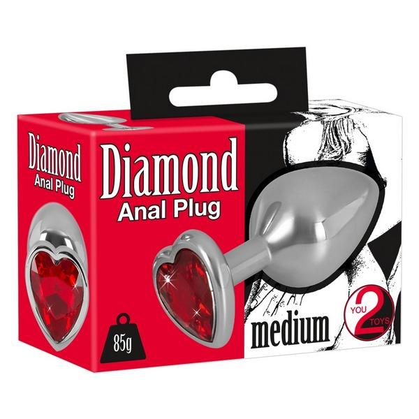 Aluminijski analni stimulator, 8,2 x 3,5cm - Aluminium Butt Plug