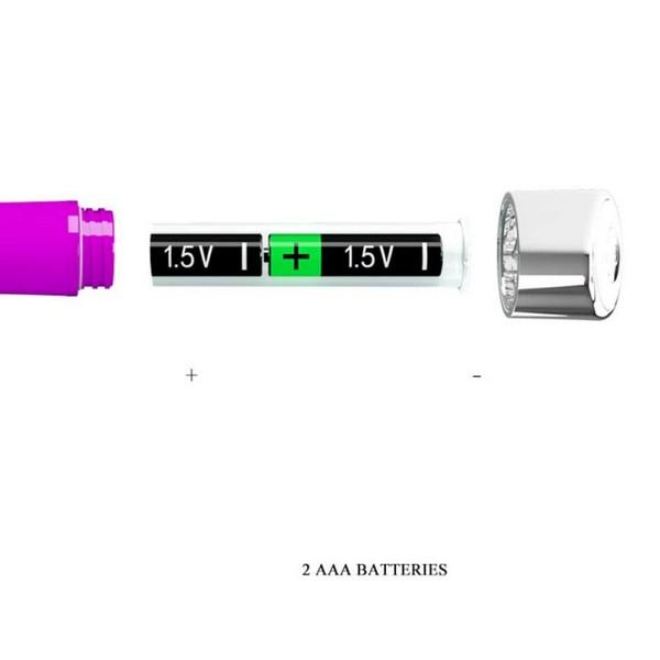 Silikonski vibrator, 16,7cm x 2,7cm – Pretty Love Randolph