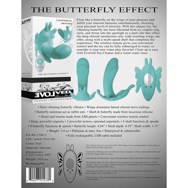 Leptir vibrator sa stimulatorom klitorisa, 11 x 3,3cm – The Butterfly Effect