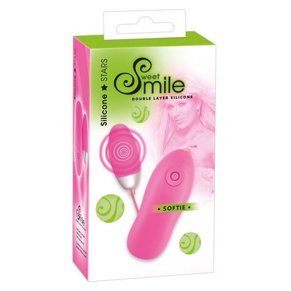 Silikonski jaje vibrator, 6 x 2,6cm, 7 vrsta vibracija – Smile Softie