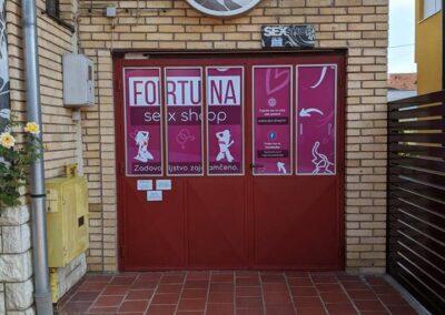 Ulazna vrata trgovine za odrasle Fortuna